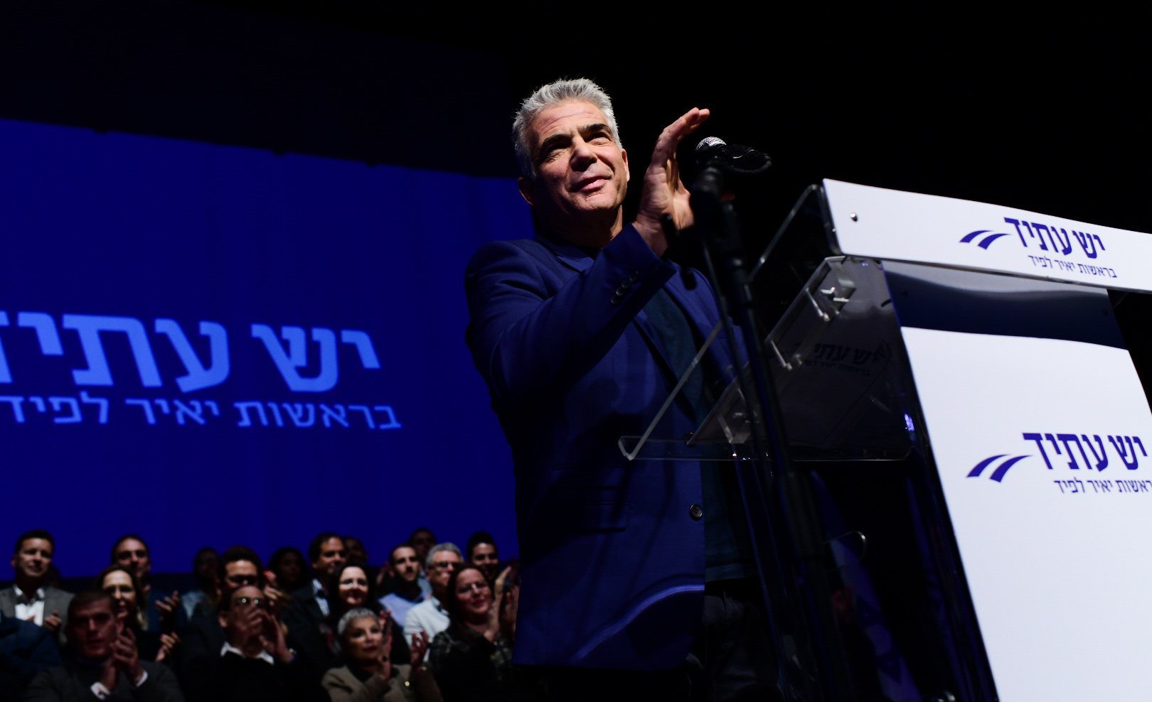 Yair Lapid, leader of the party Yesh Atid, on January 8, 2019. Tomer Neuberg/Flash90.