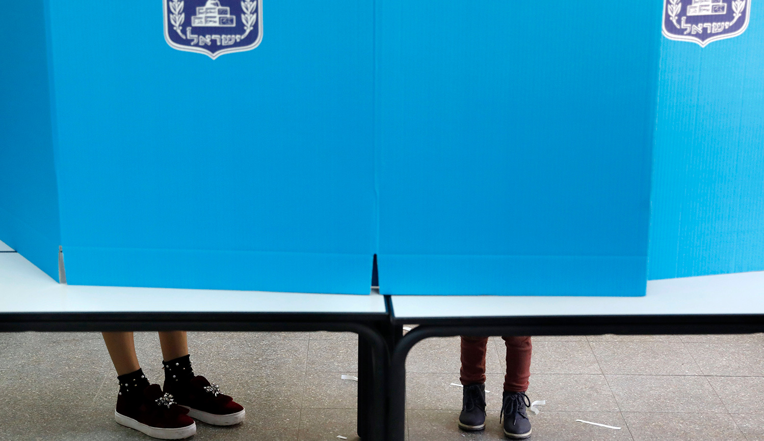 Israelis voting on April 9, 2019. AHMAD GHARABLI/AFP/Getty Images.