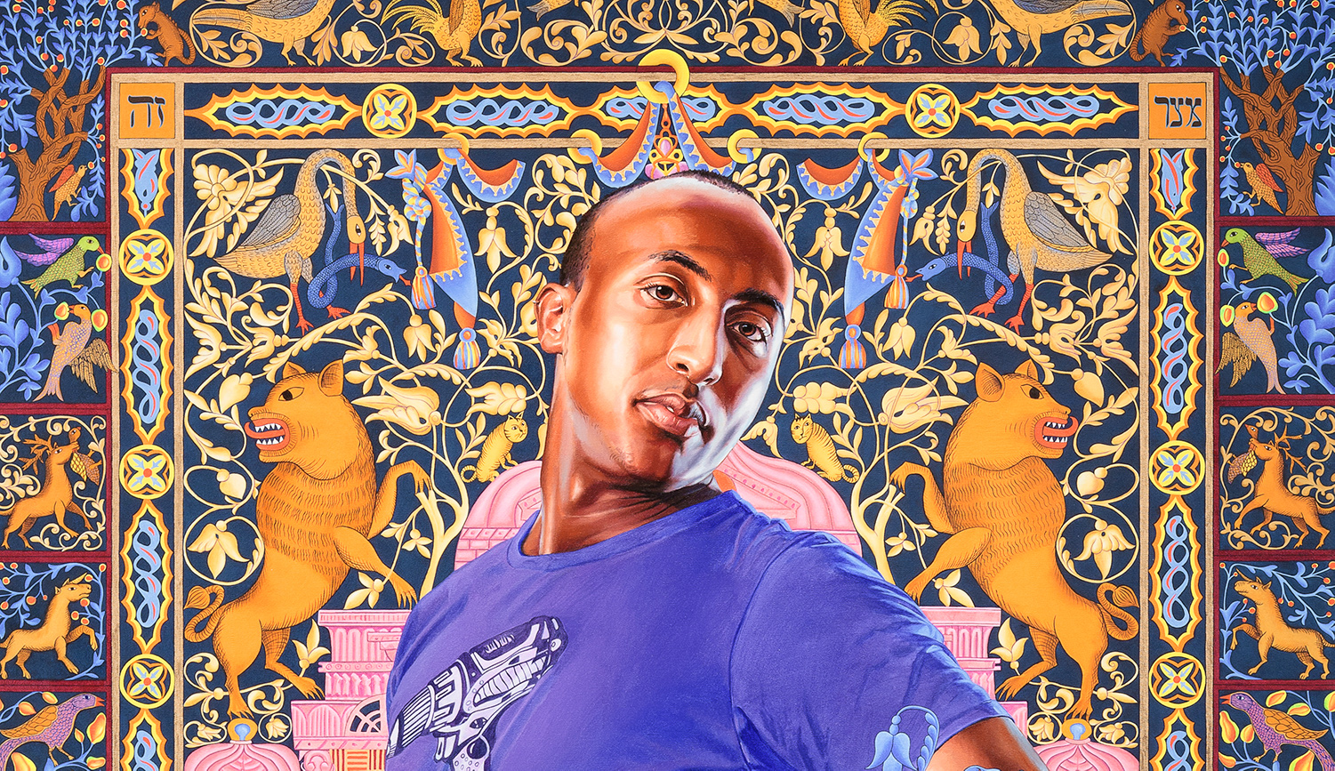 From Kehinde Wiley's Alios Itzhak at the Jewish Museum. Jewish Museum.