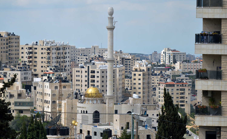 Ramallah city center in 2018. Artur Widak/NurPhoto via Getty Images.