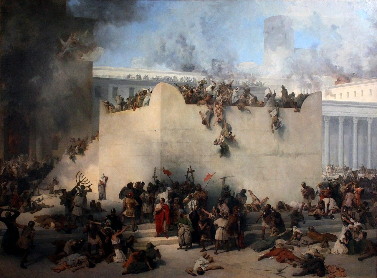 The Destruction of the Temple of Jerusalem by Franceso Hayez, 1867. Wikipedia.