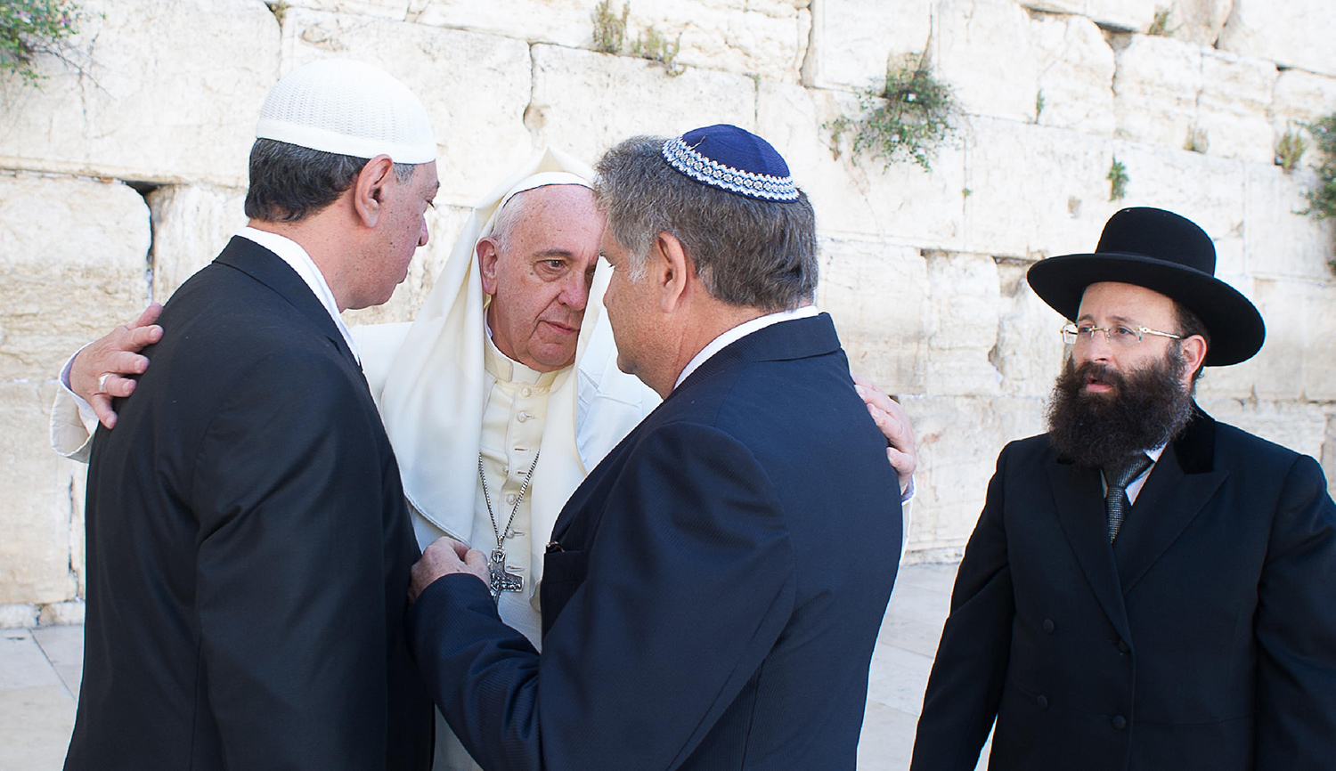 Pope Francis in Jerusalem in 2014. Eric VANDEVILLE/Gamma-Rapho via Getty Images.