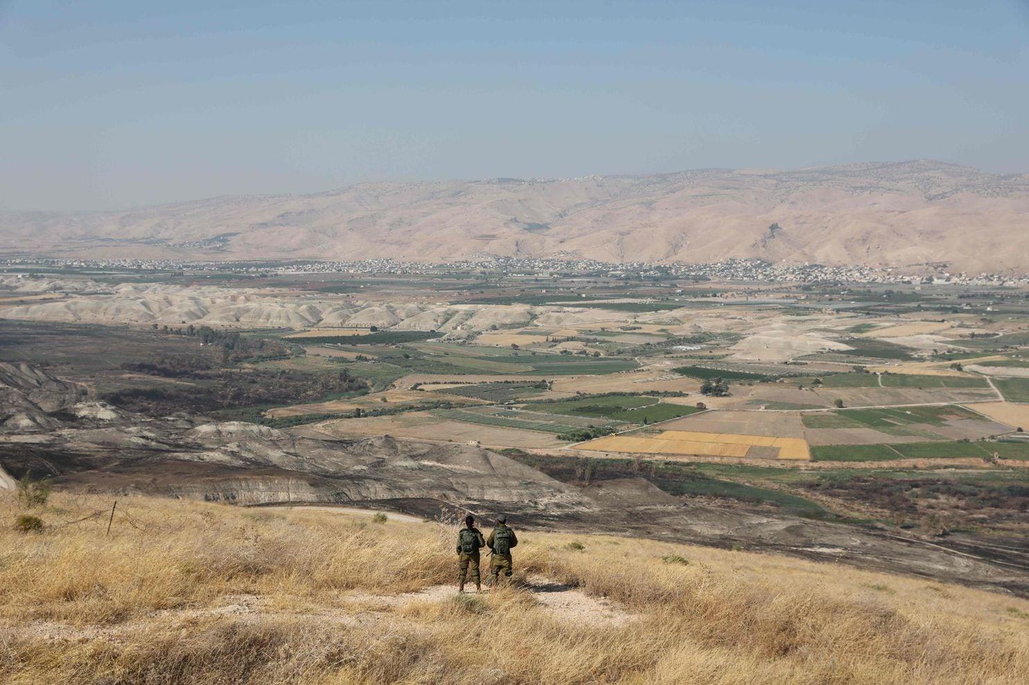 Israeli soldiers overlooking the Jordan Valley in June 2019. Abir Sultan/Agence France-Presse/Getty Images