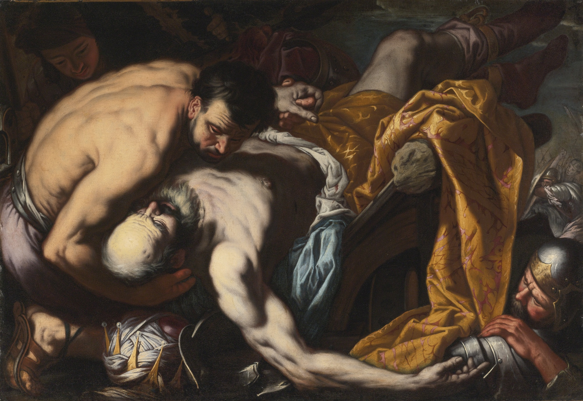 The Death of King Josiah by Antonio Zanchi c. 1660. Wikimedia.