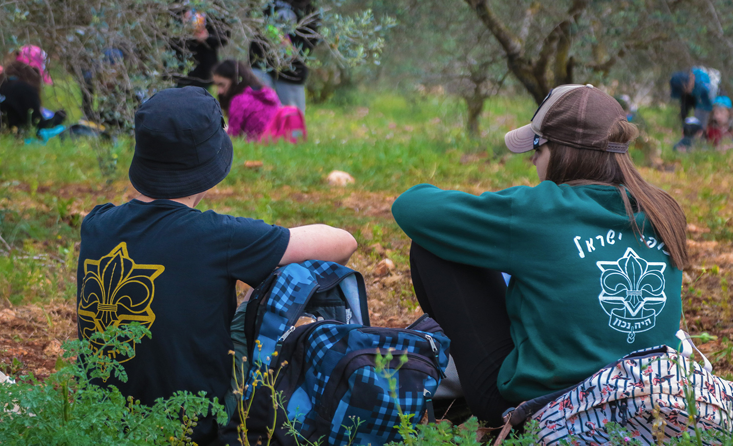 Young Israeli Scouts on a group Passover trip on March 29, 2018. Roy Alima/Flash90.