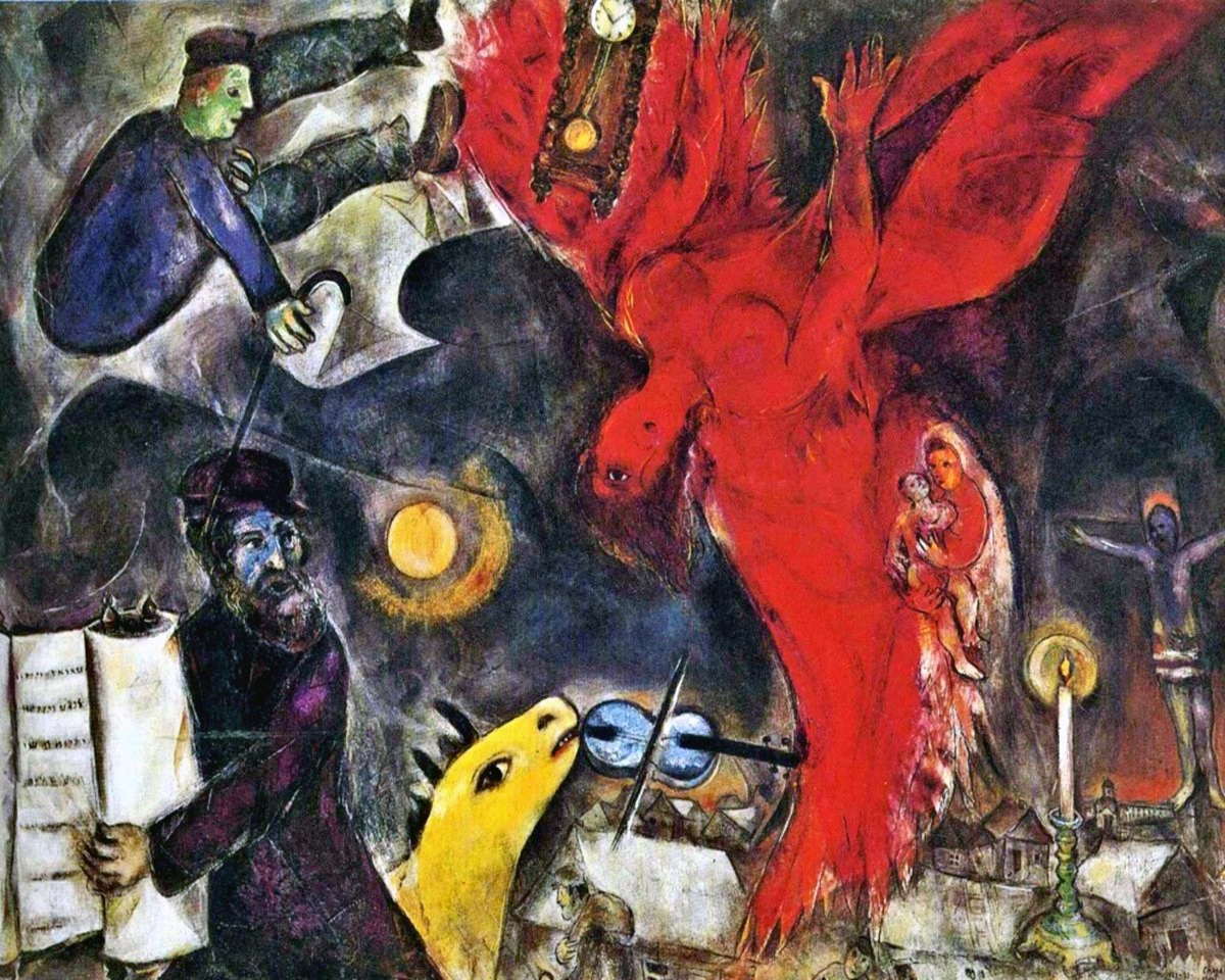 From The Falling Angel ca. 1923 – 1947 by Marc Chagall.