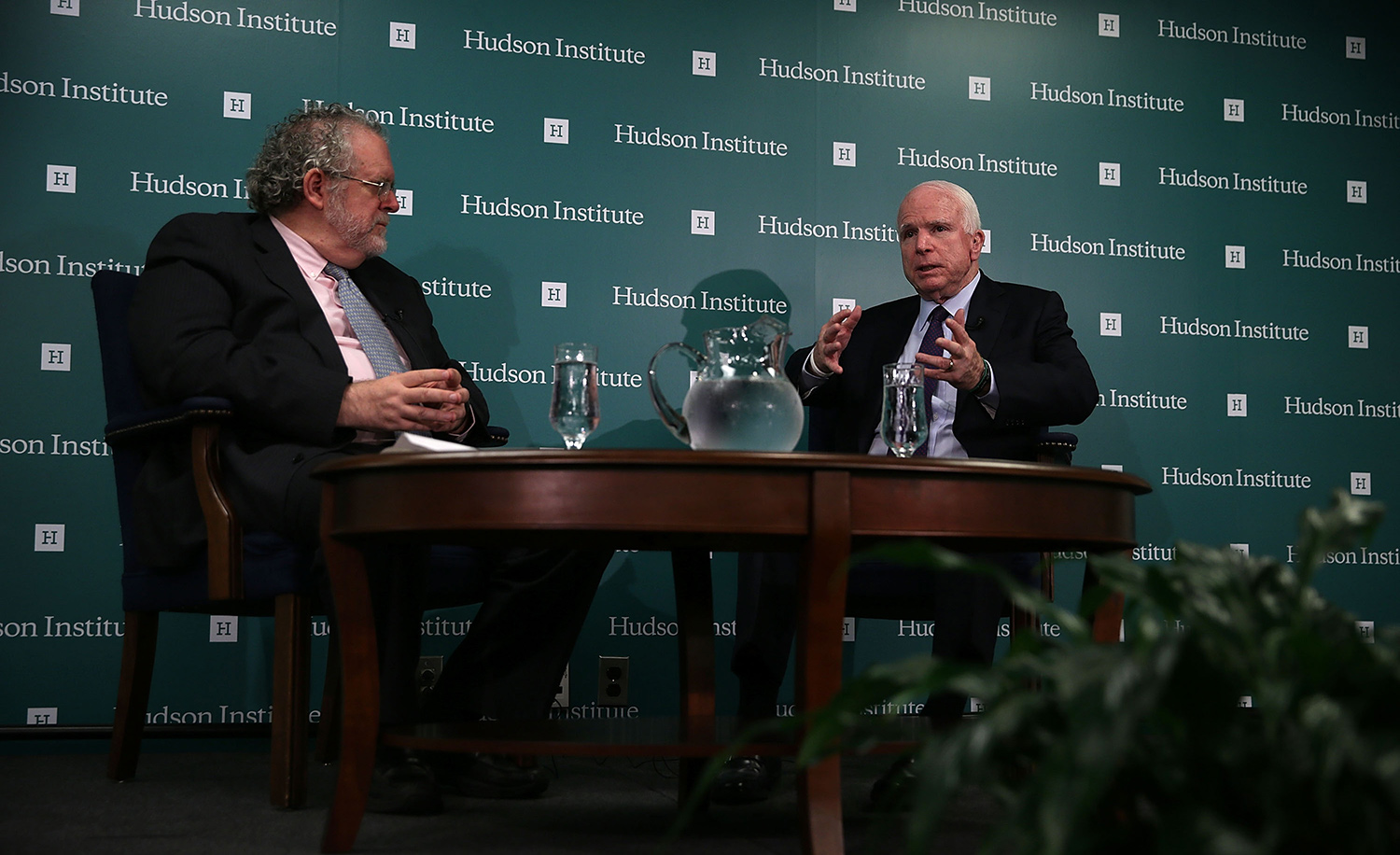 John McCain in discussion with Walter Russell Mead at the Hudson Institute on July 21, 2015. Alex Wong/Getty Images.