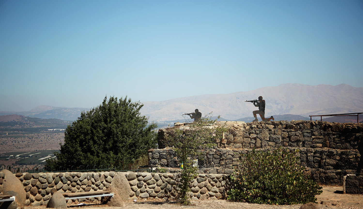 Military decoys at the top of the Golan Heights. Moment via Getty Images.