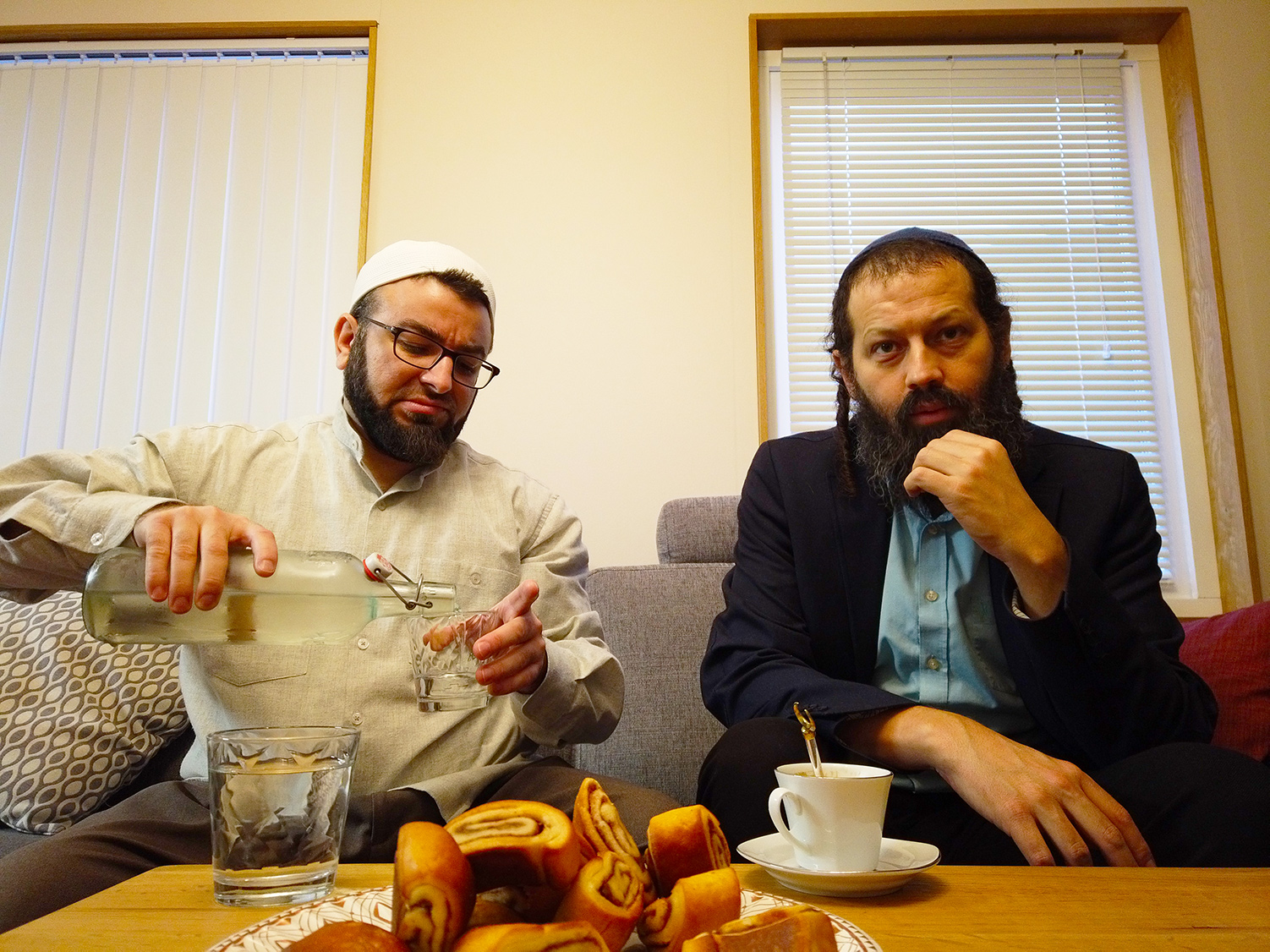 Imam Salahuddin Barakat and Rabbi Moshe David HaCohen in the Swedish city of Malmö. Annika Hernroth-Rothstein.