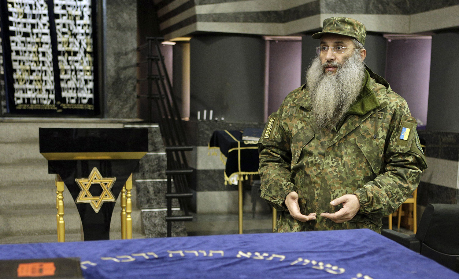 Asher Cherkassky, a Ukrainian Orthodox Jew who joined a pro-Ukrainian volunteer battalion, in southern Ukraine in November 2015.ANATOLII STEPANOV/AFP via Getty Images.