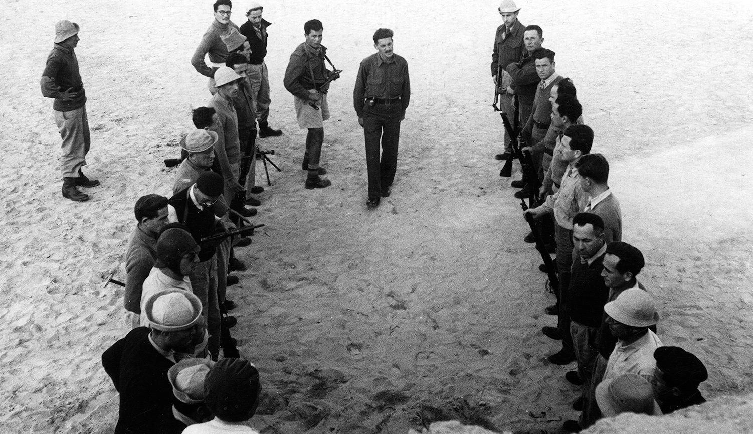 Haganah fighters training at Camp Yona, Tel Aviv, in the 1940s. Mondadori via Getty Images.