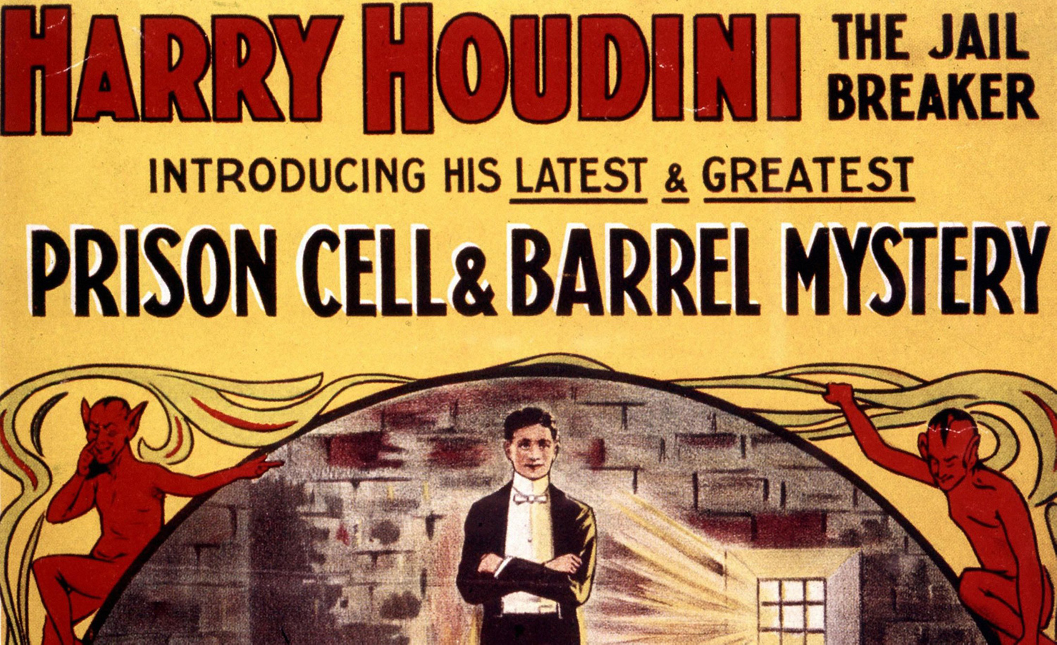 A poster for a performance of Harry Houdini's in the late 19th-century. Alamy.