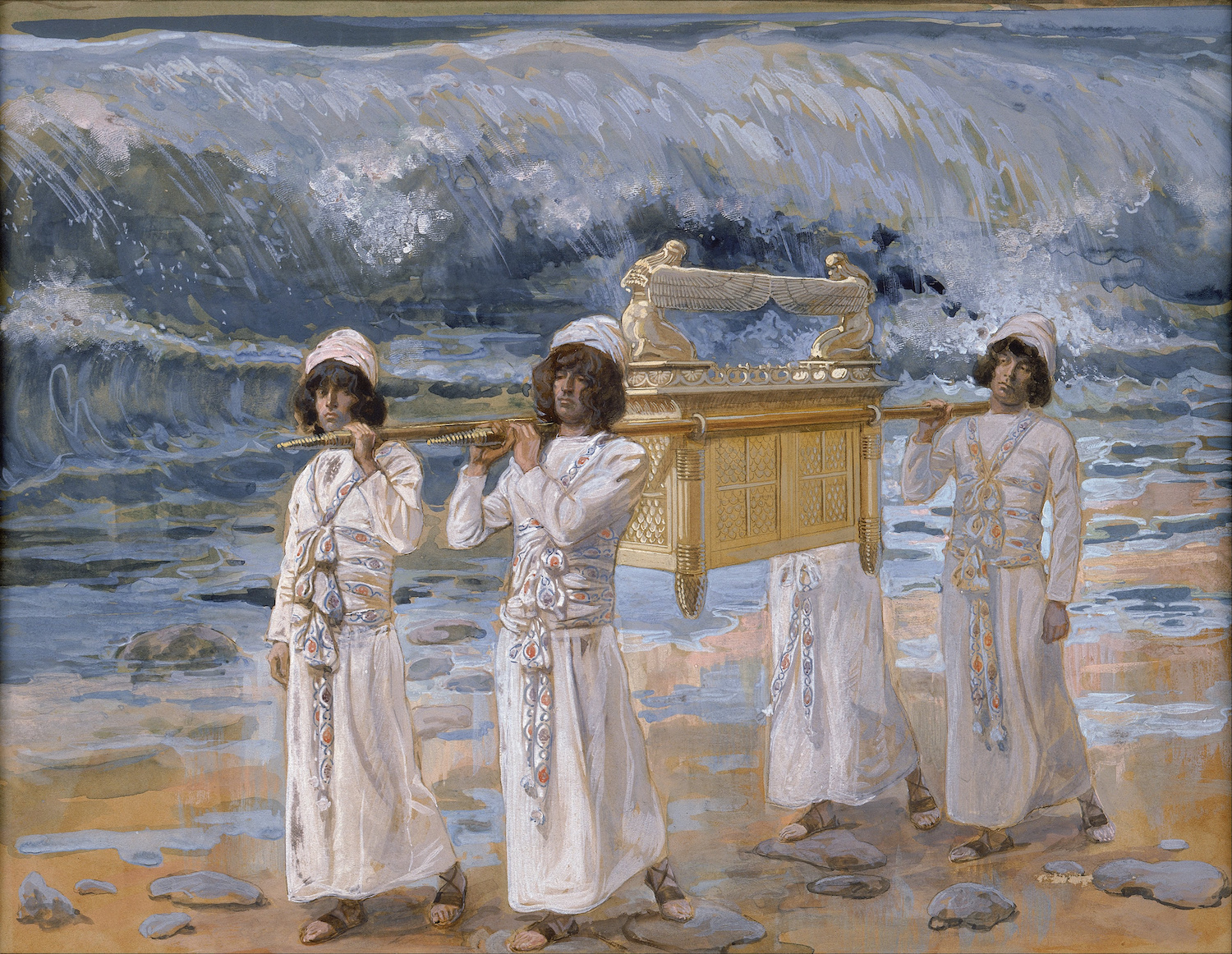 From James Tissot's The Ark Passes Over the Jordan. Google Art Project.