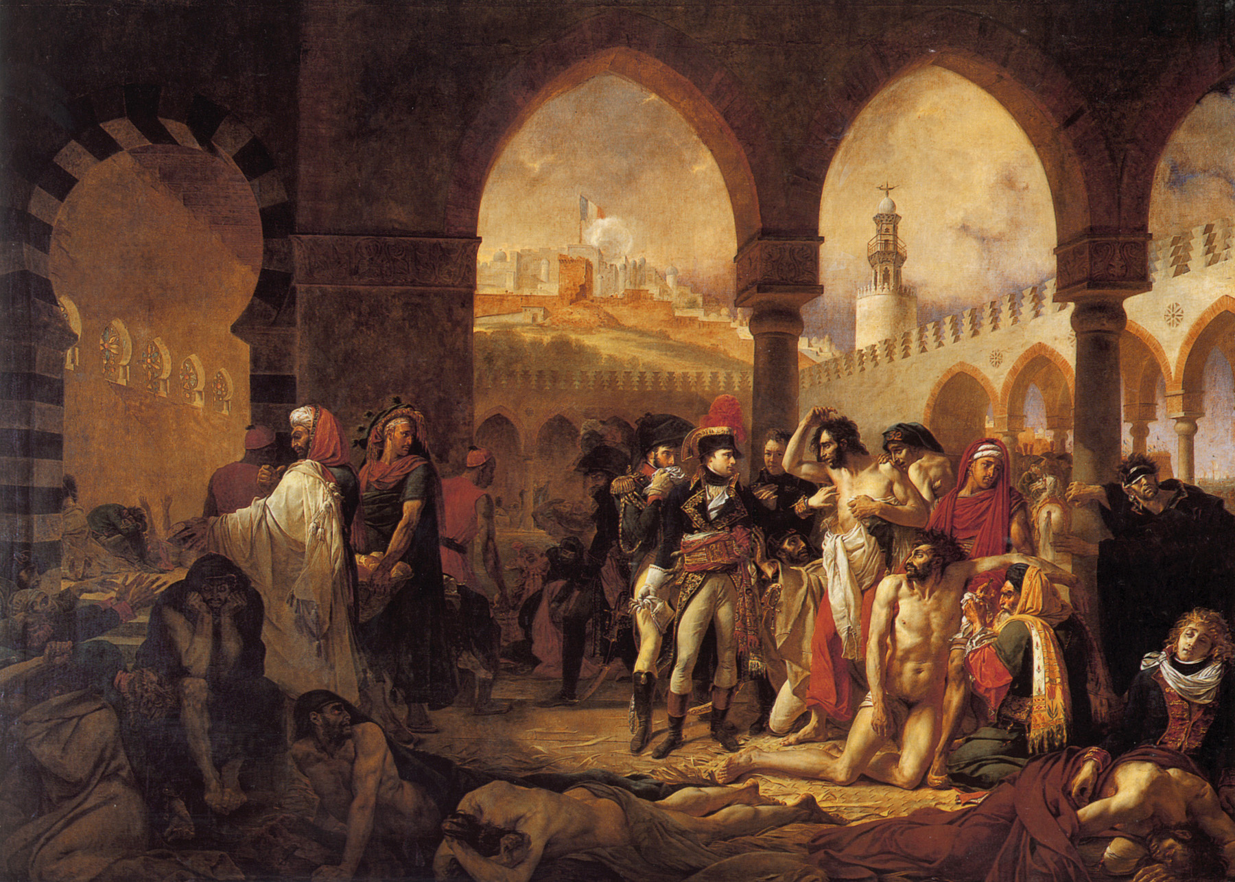 Antoine-Jean Gros's Bonaparte Visiting the Plague-Stricken in Jaffa, c. 1804. Wikimedia.