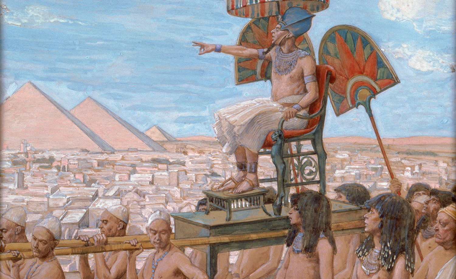 From Pharaoh Notes the Importance of the Jewish People by James Jacques Joseph Tissot, c. 1896-1902. Jewish Museum.