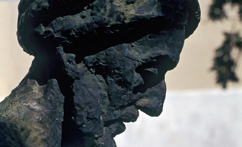 A sculpture of poet and philosopher Solomon Ibn Gabirol in Malaga, Spain. Petr Svarc/Alamy Stock Photo.