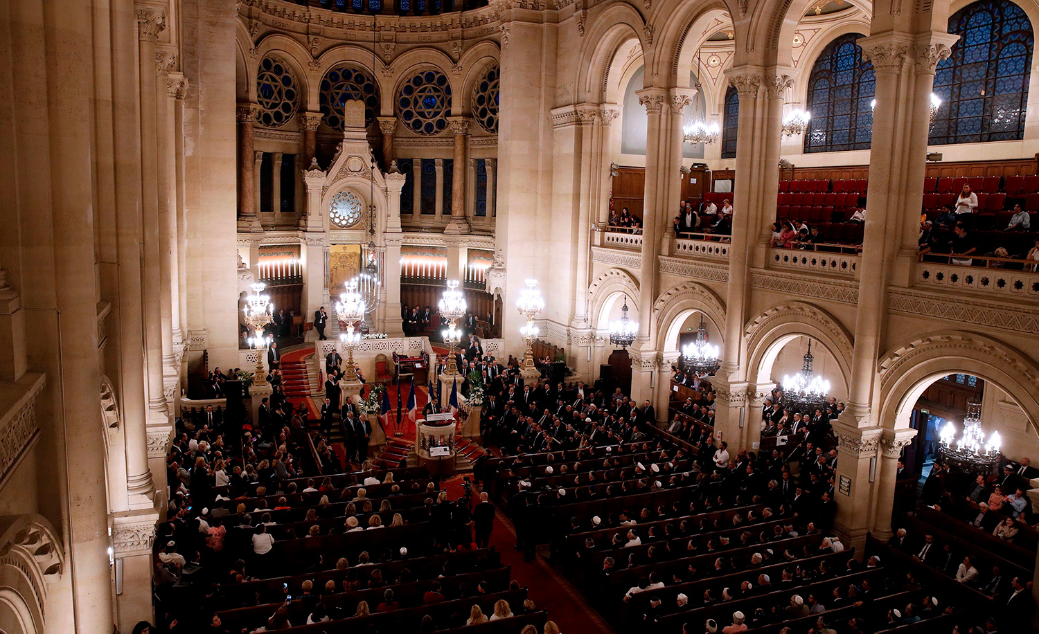 Rosh Hashanah at the Great Synagogue in Paris on September 4, 2018. YOAN VALAT/AFP via Getty Images.