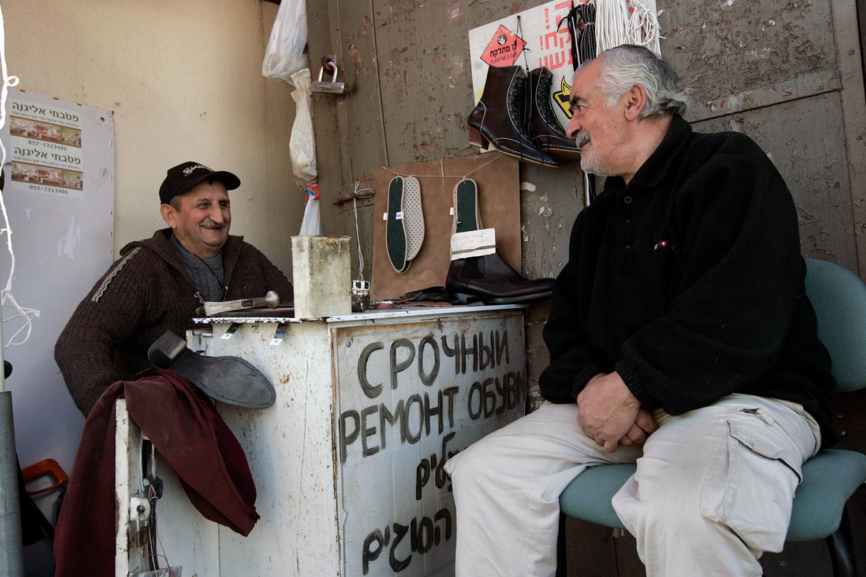 Russian immigrants in the Israeli city of Sderot on December 17, 2008. Anna Kaplan/Flash90.