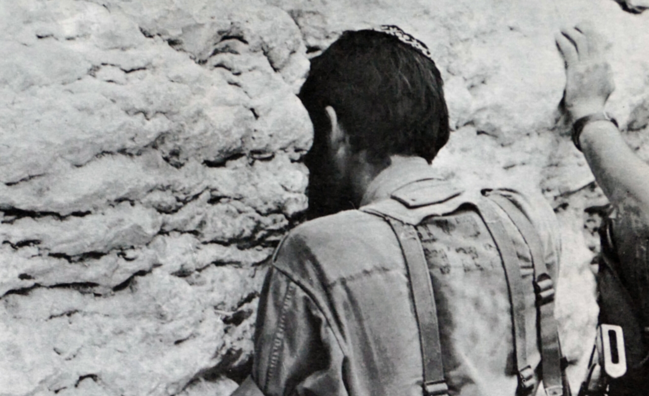 An Israeli soldier praying at the Western Wall during the Six-Day War in 1967. Universal History Archive/Universal Images Group via Getty Images.