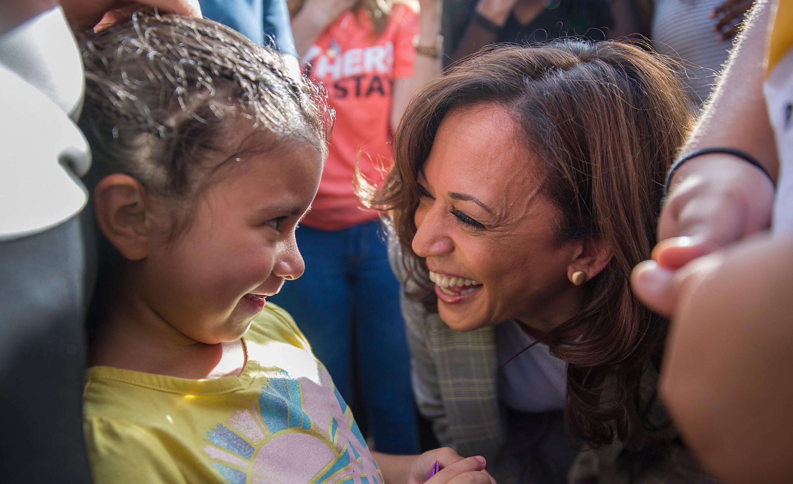 Then-Senator Kamala Harris on June 28, 2019 in Homestead, Florida. Joe Raedle/Getty Images.
