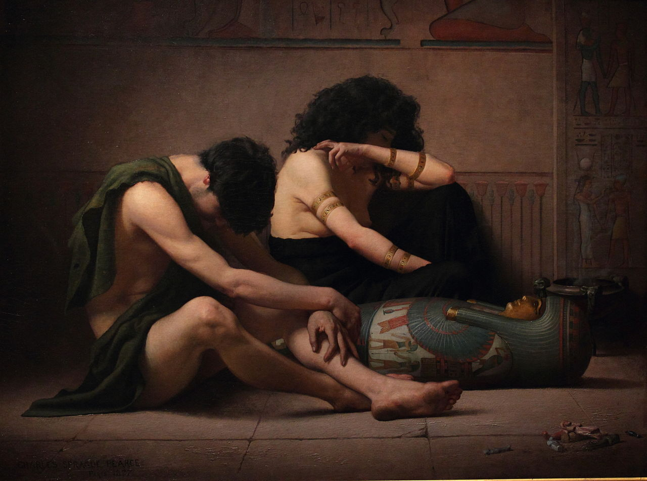 Charles Sprague Pearce's Lamentations over the Death of the First-Born of Egypt. Smithsonian American Art Museum.