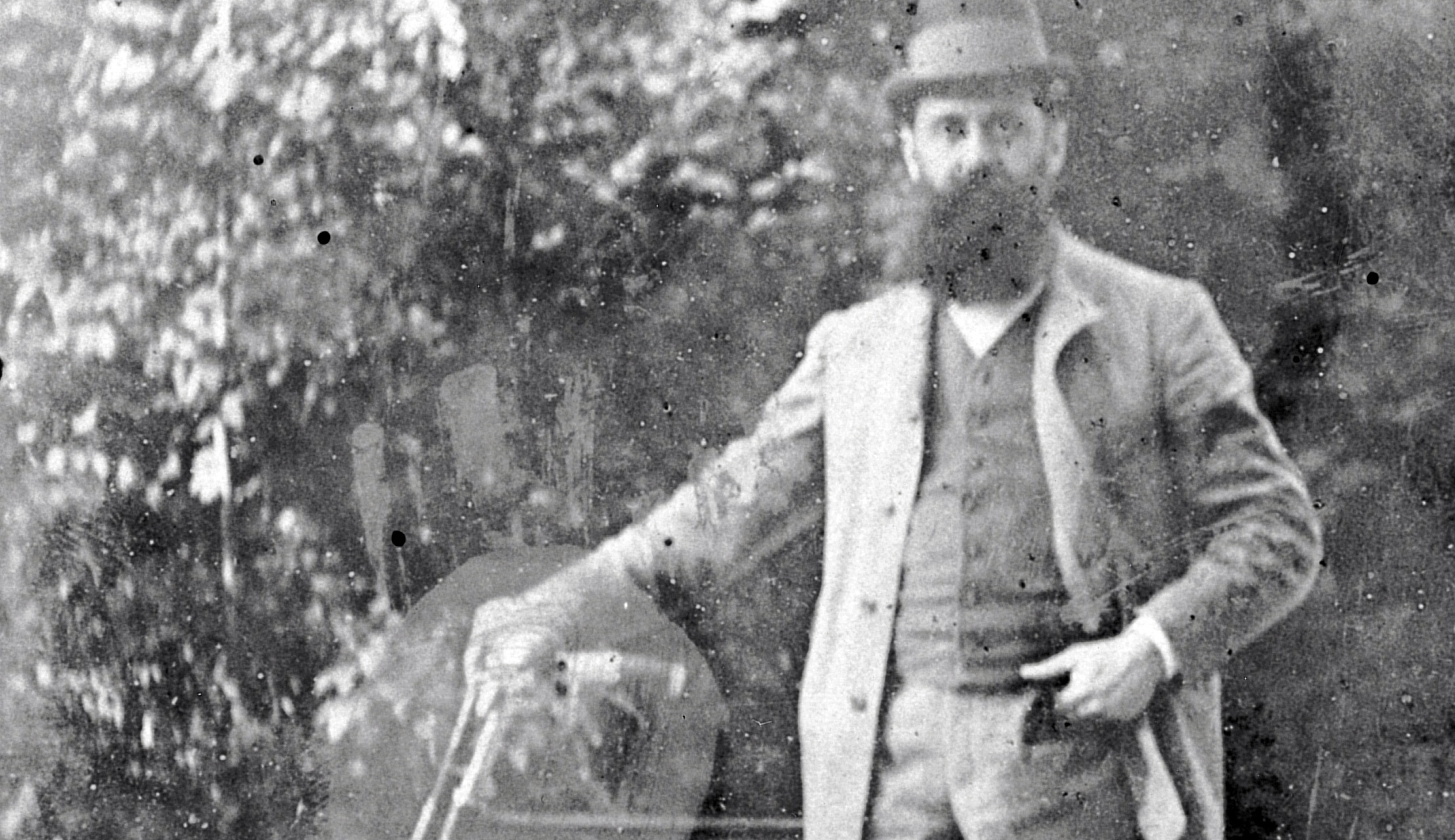 Theodor Herzl in Altaussee, Austria in August 1900. Imagno/Getty Images.