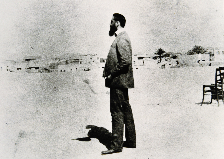 Theodor Herzl in Palestine in November 1898. David Wolffsohn, Imagno/Getty Images.