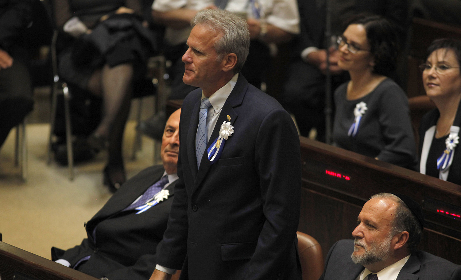 Michael Oren in the Knesset on March 31, 2015 in Jerusalem. HEIDI LEVINE/AFP via Getty Images.