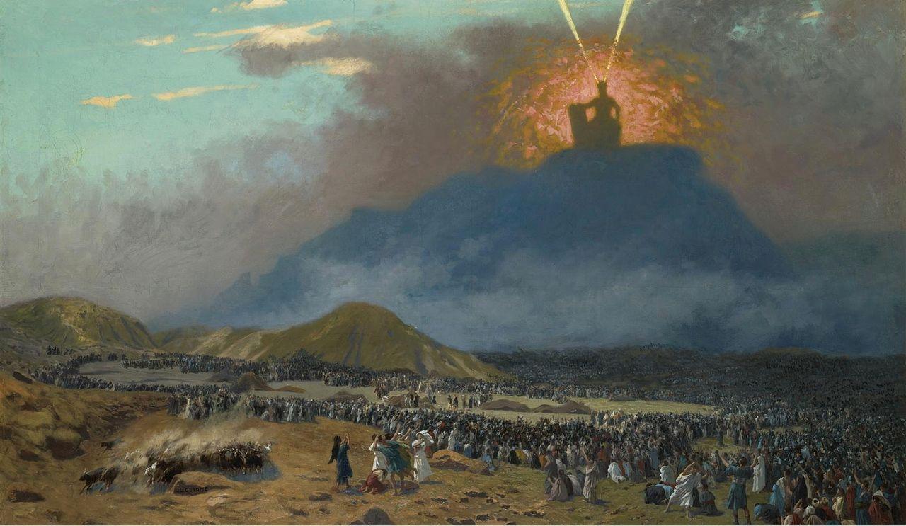 Moses on Mount Sinai by Jean-Léon Gerome, 1895-1900. Wikipedia.
