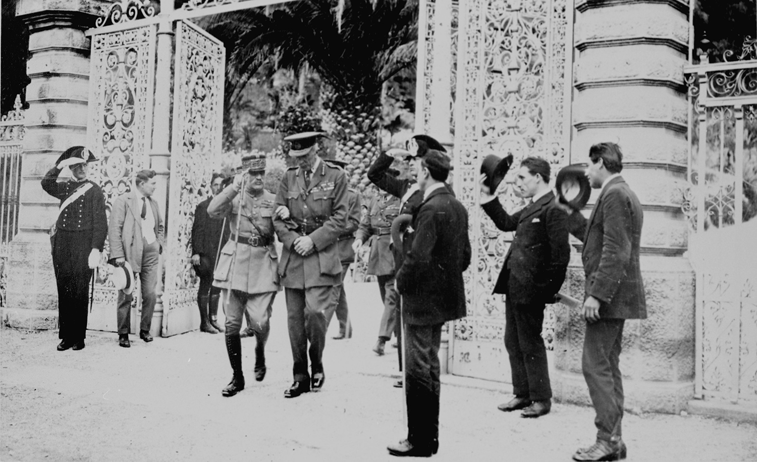 French Marshal Ferdinand Foch during the San Remo Conference in 1920. Photo 12/ Universal Images Group via Getty Images.