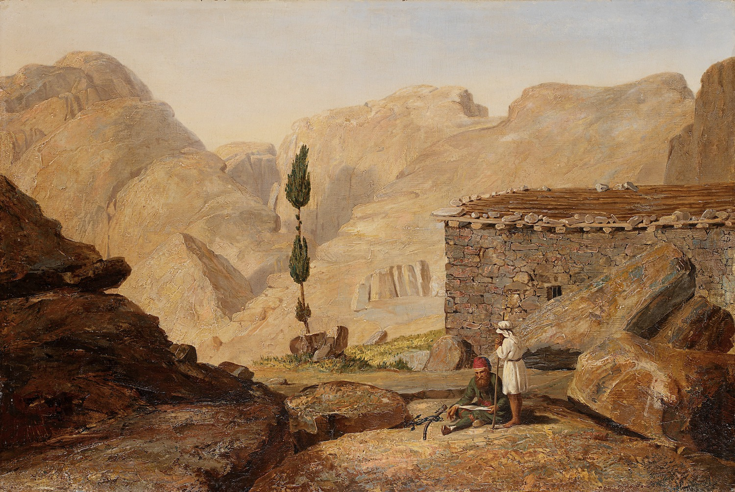 Miner Kilbourne Kellogg, The Top of Mount Sinai with the Chapel of Elijah, after 1844. Smithsonian American Art Museum.