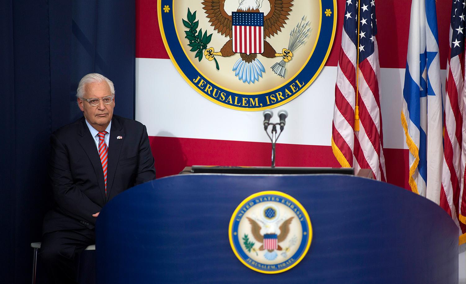 Then-U.S. ambassador to Israel David Friedman on May 14, 2018 in Jerusalem. Lior Mizrahi/Getty Images.