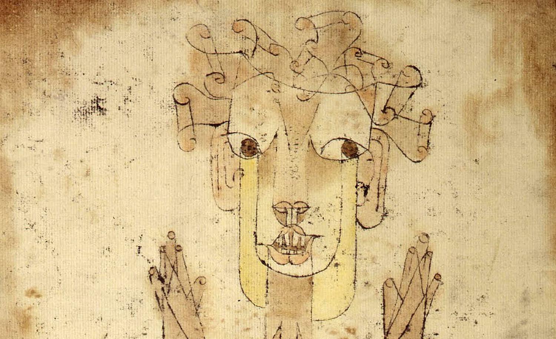 """From """"Angelus Novus"""" by Paul Klee, 1920."""