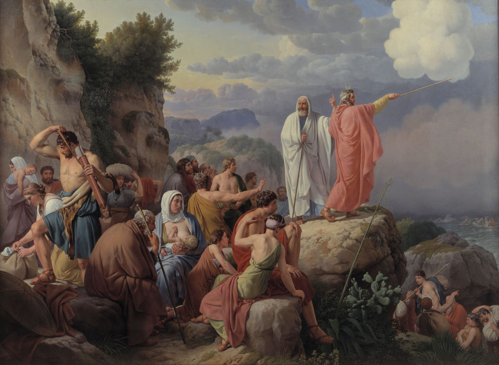 The Israelites Resting After the Crossing of the Red Sea, 1816, by the Danish artist Christopher-Wilhelm Eckersberg. Fine Art Images/Heritage Images/Getty Images.