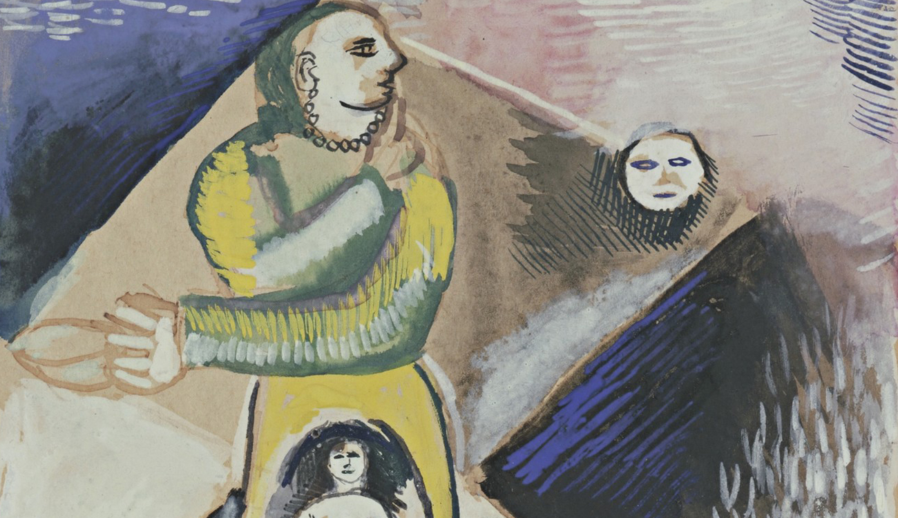 """From """"Maternity"""" by Marc Chagall, 1912."""