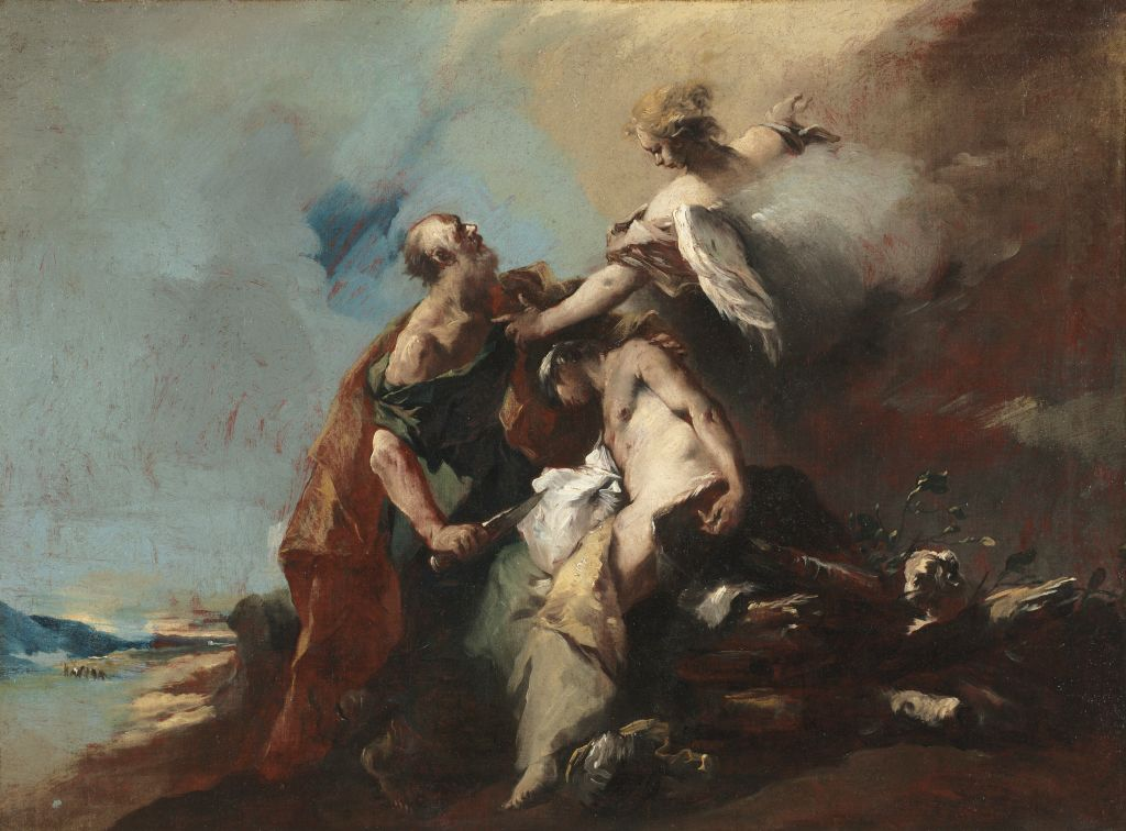 The Sacrifice of Isaac, 1750s, by the Italian artist Andrea del Sarto. Photo by Heritage Arts/Heritage Images via Getty Images.