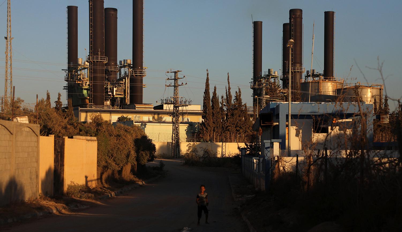Gaza's power plant on August 17, 2020. Majdi Fathi/NurPhoto via Getty Images.