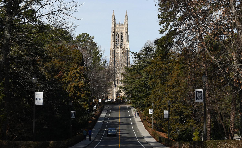 The Duke University Chapel on January 27, 2018 in Durham, North Carolina. Lance King/Getty Images.