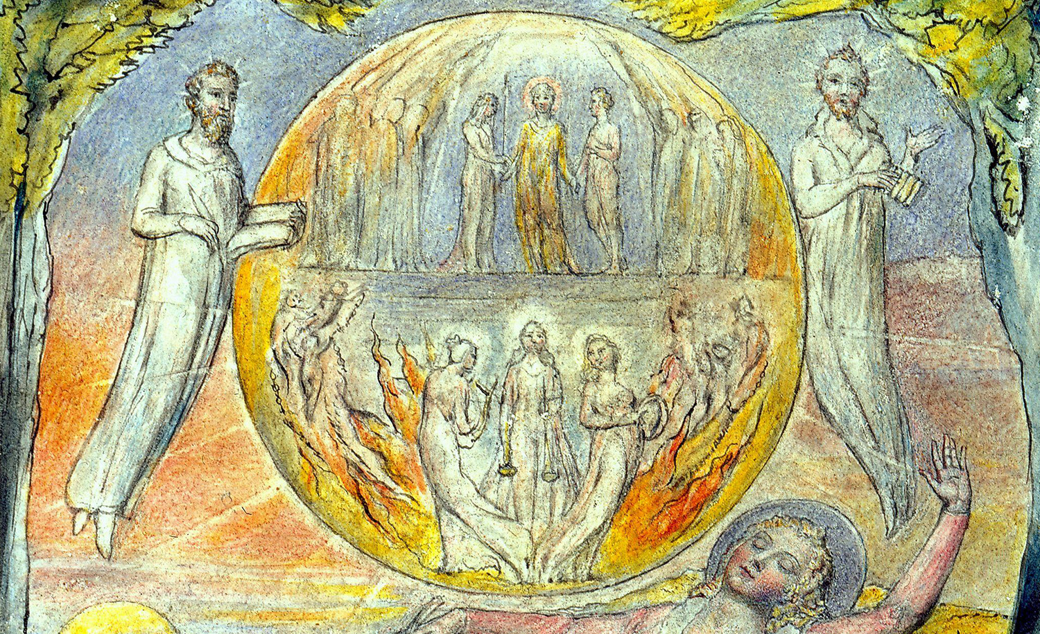 """From """"The Youthful Poet's Dream"""" by William Blake. Wikimedia."""
