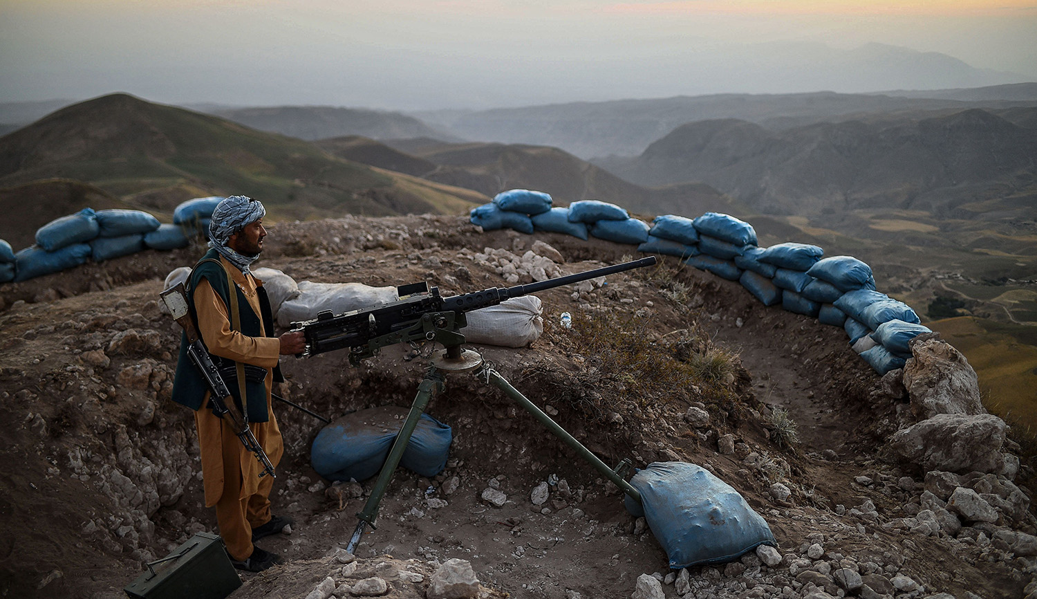 An Afghan militia fighter in Balkh Province on July 11, 2021. FARSHAD USYAN/AFP via Getty Images.