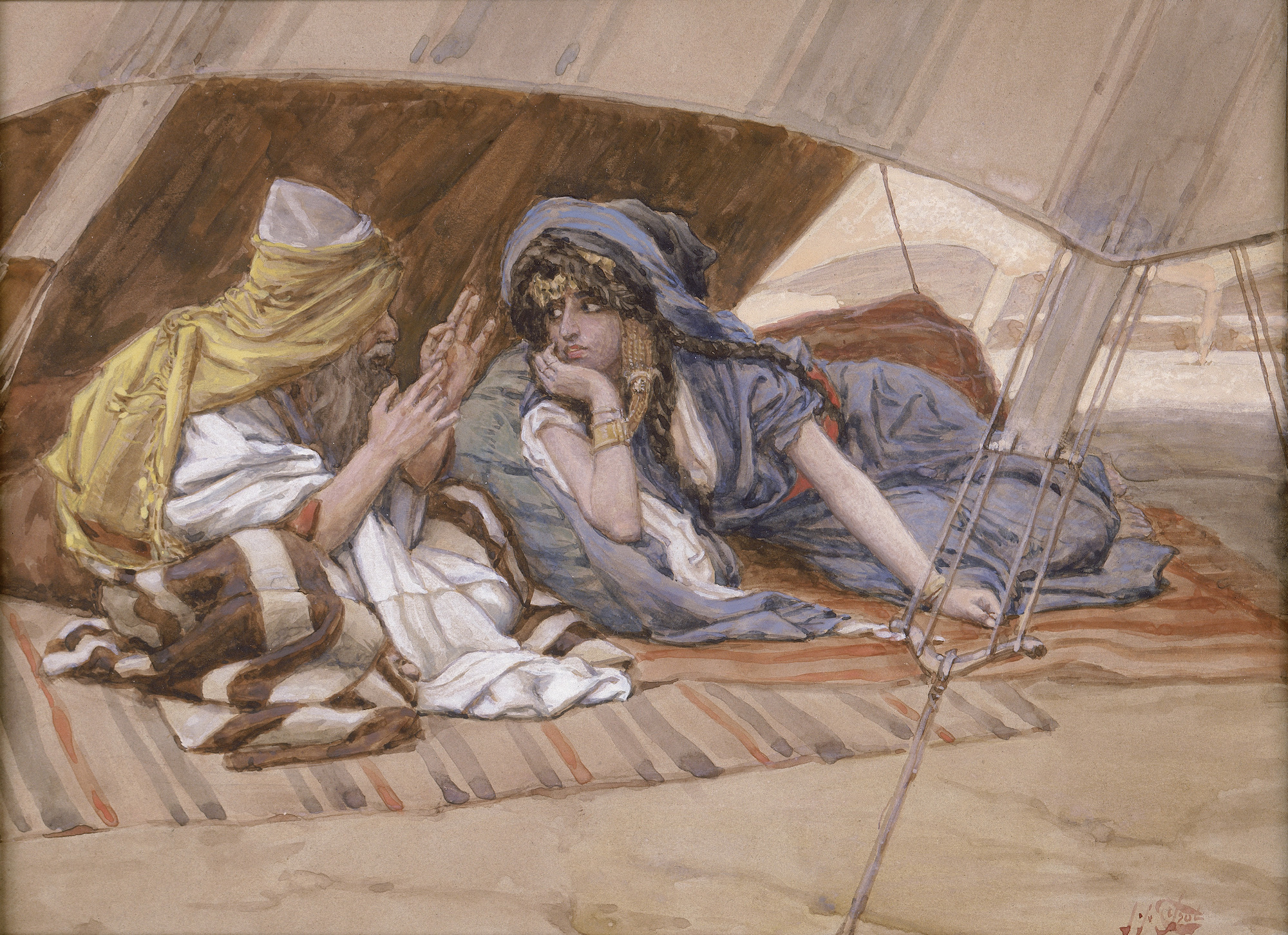 Abram's Counsel to Sarai by James Tissot, 1896-1902. The Jewish Museum, New York.