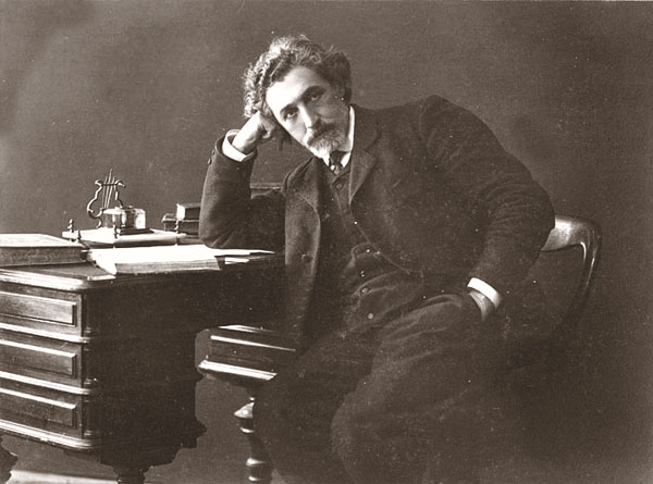The Yiddish writer and folklorist S. An-sky in 1910.  Wikimedia.