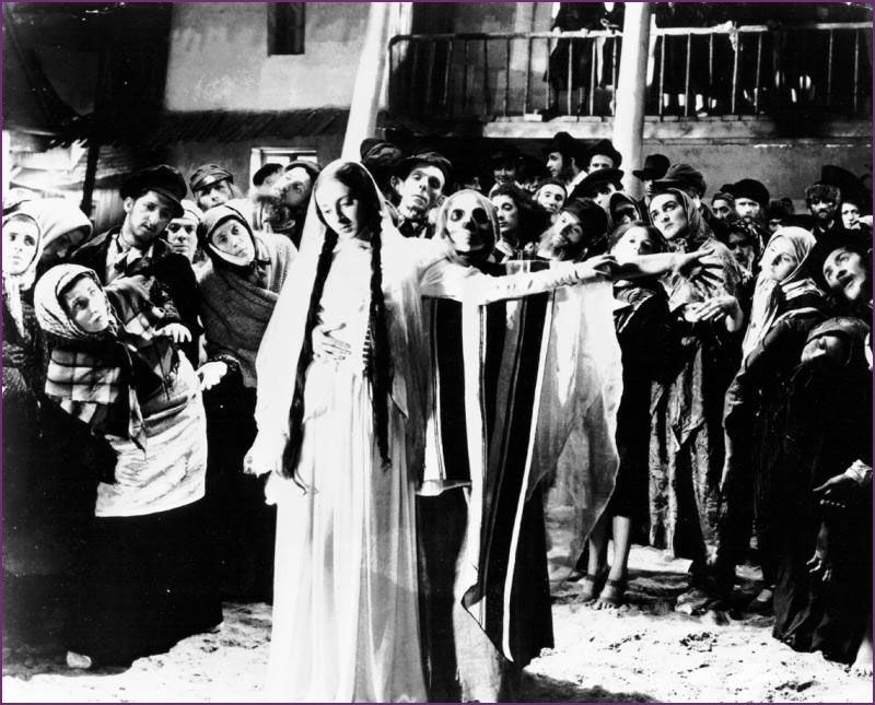 <em>Lili Liana as Lea in the 1937 film version of S. An-sky's Yiddish play</em> The Dybbuk.