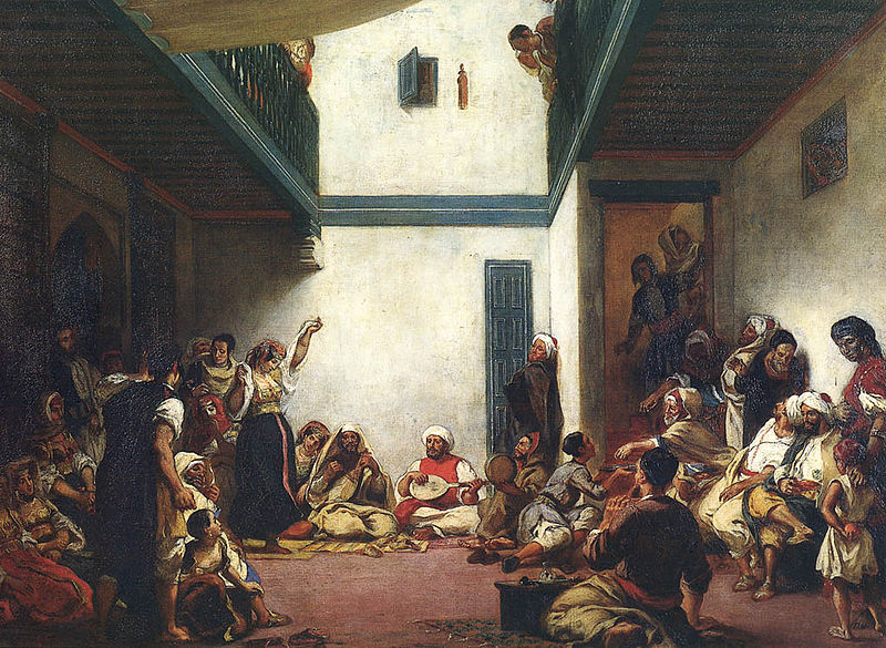 <em>A Jewish wedding in Morocco</em> by Eugène Delacroix. Courtesy Wikipaintings.