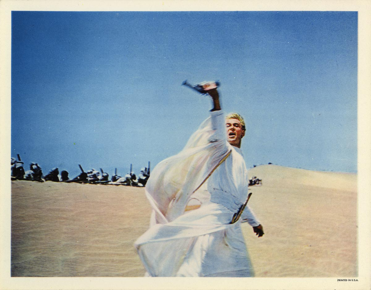 Peter O'Toole as T.E. Lawrence in Lawrence of Arabia.