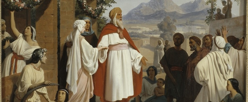 """Thy people will be my people, and thy God my God"": <i>The Marriage of Ruth and Boaz.</i> Jean-Baptiste Auguste Leloir, 1837. Musée Georges Garret, Vesoul, France. © RMN-Grand Palais / Art Resource, NY."
