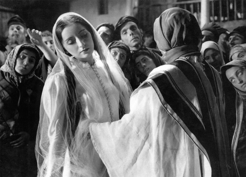 Lili Liana as Lea in the 1937 film version of S. An-sky's Yiddish play The Dybbuk.