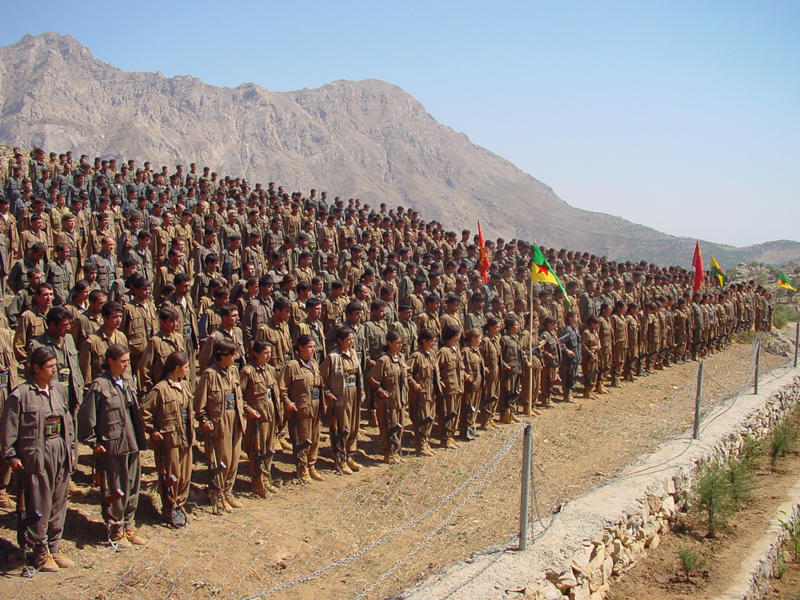 Members of the Kurdistan Workers' Party (Kurdish Partiya Karkerên, PKK) in Kurdistan/Iraq. Courtesy James Gordon/Flickr.