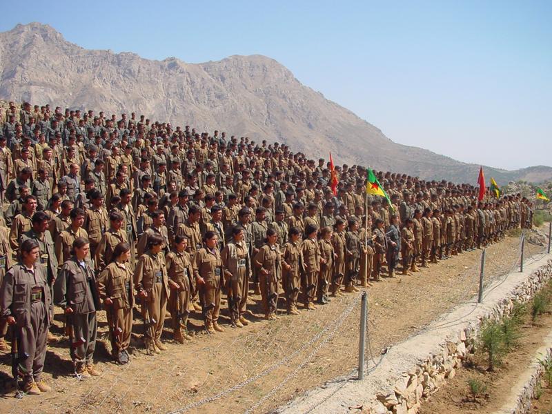 Members of the Kurdistan Workers' Party (Kurdish Partiya Karkerên, PKK) in Kurdistan/Iraq. Courtesy James Gordon/Flickr.
