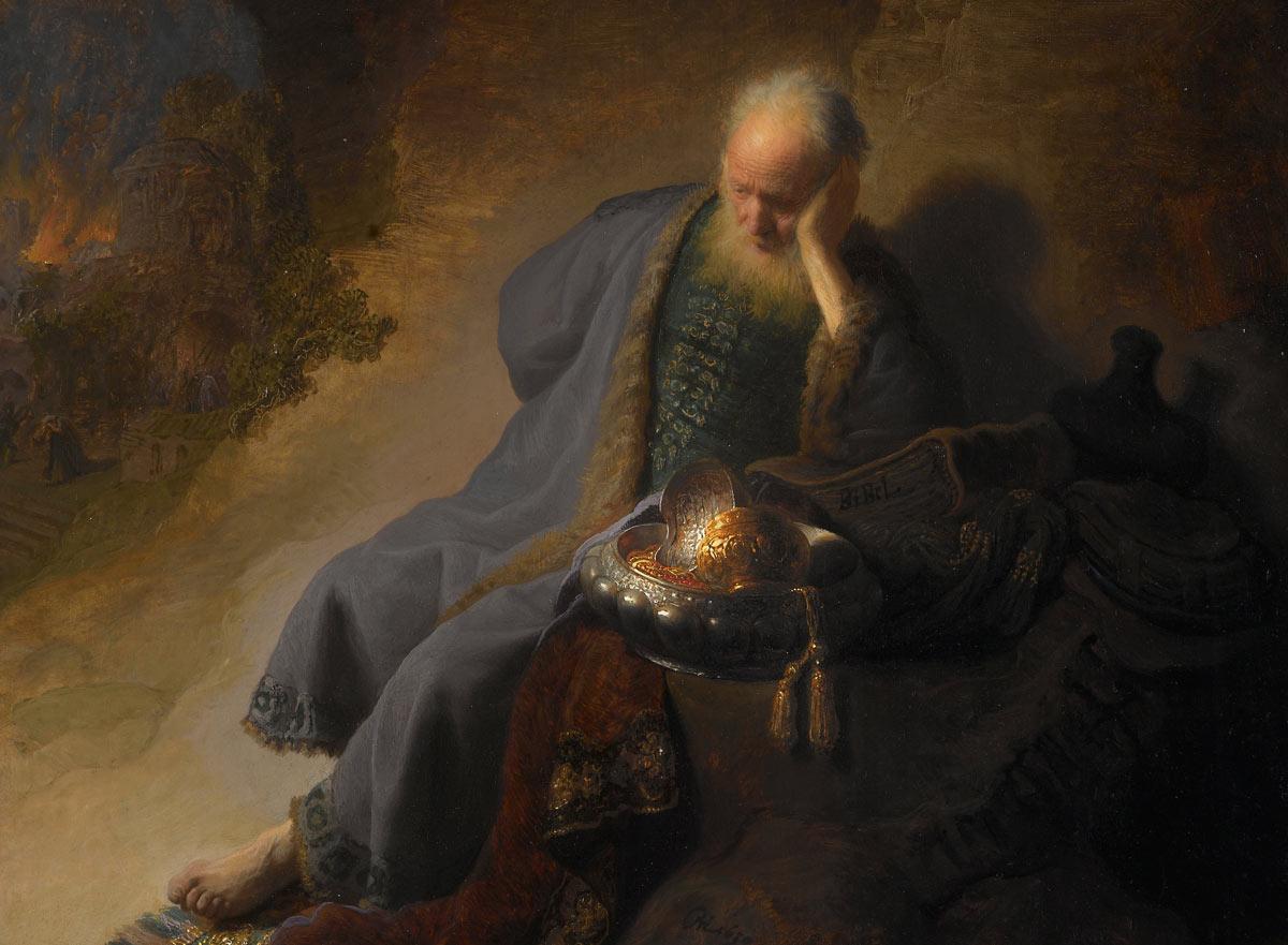 From  Jeremiah lamenting the destruction of Jerusalem. Rembrandt.